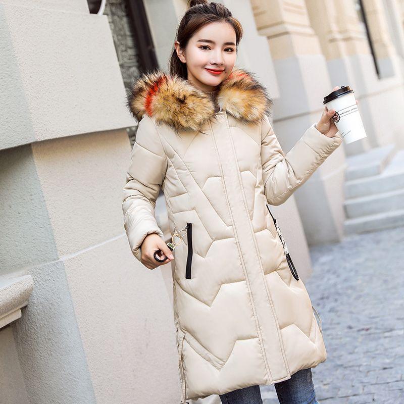 bd460890c41 Cheap Parkas  KUYOMENS women s winter jackets coats 2018 Solid color  Fashion winter parka women long Hooded Thick Warm Cotton Padded Coat High