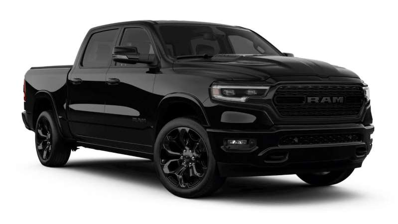 2020 Ram 1500 Limited Gains Stealthy Black Edition Black Truck Ram Trucks Ram Cars