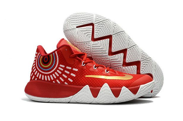 aa254b91cbb5 Nike Kyrie 4 Buy Nike Zoom Kyrie 4 Basketball Shoe Kyrie 4 Red White Kyrie  Irving 4 New Release 2017 For Sale