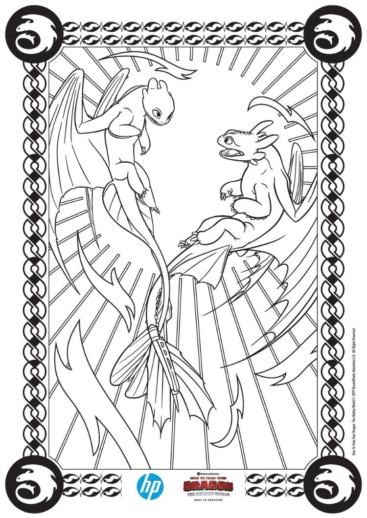How To Train Your Dragon The Hidden World Prints From Hp Dragon Coloring Page How Train Your Dragon How To Train Your Dragon