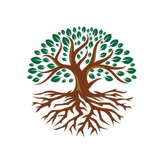 Tree Root Circle Logo Template Free Vector Tree Logo Design Tree Logos Tree Wallpaper Iphone