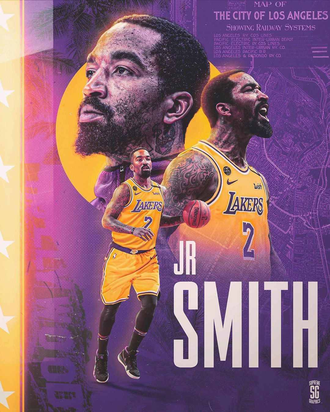 Sports Designs On Instagram Do The Lakers Sign Jr Free Agent Guard Jr Smith Has Emerged As A Leading Cand In 2020 Lakers Sign Lakers Roster Sports Graphic Design