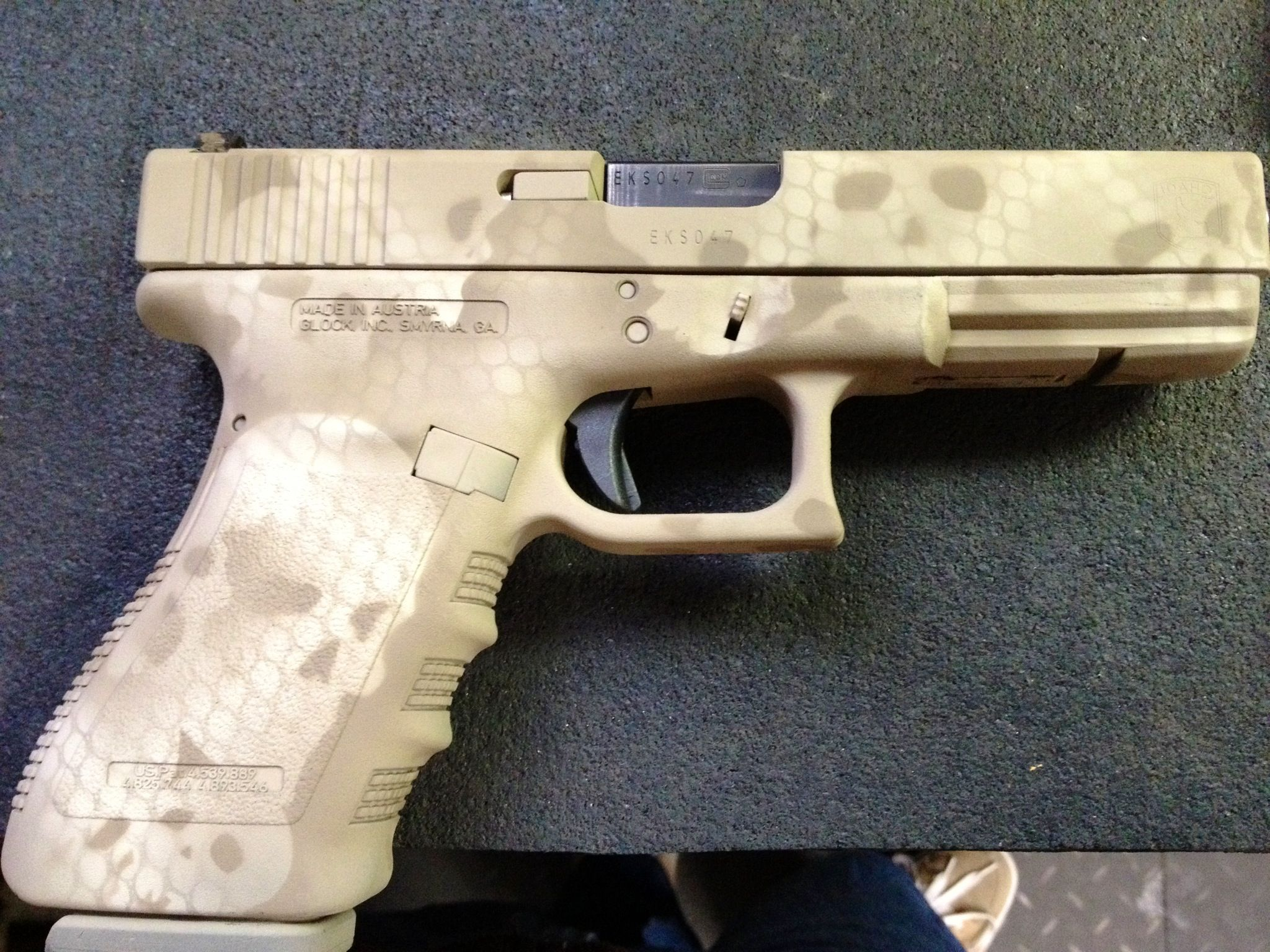 Cerakote Glock 21. Skull camo pattern. Rocky Mountain Firearm ...