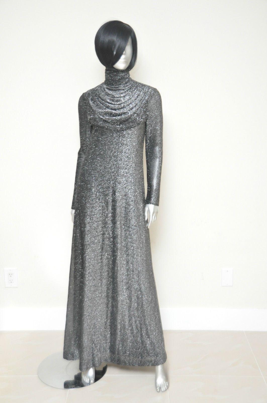 Vintage Saks Fifth Avenue Full Length Dress Evening Gown S/M Black ...