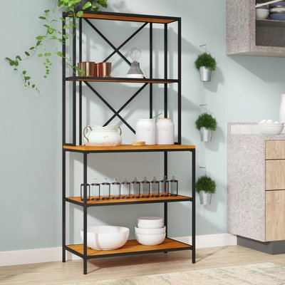 Williston Forge Briese Iron Baker S Rack Bakers Rack Furniture
