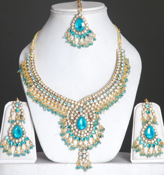 Indian Wedding Earrings Indian Bridal Jewelry Set With Stones