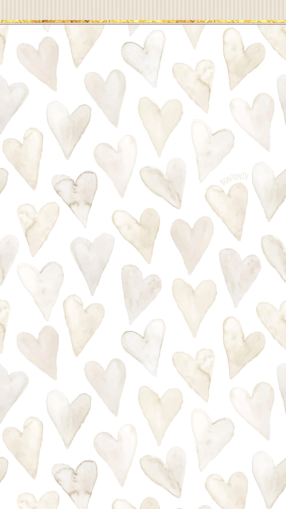 Phone Wallpapers HD Beige Neutral Hearts simplistic by
