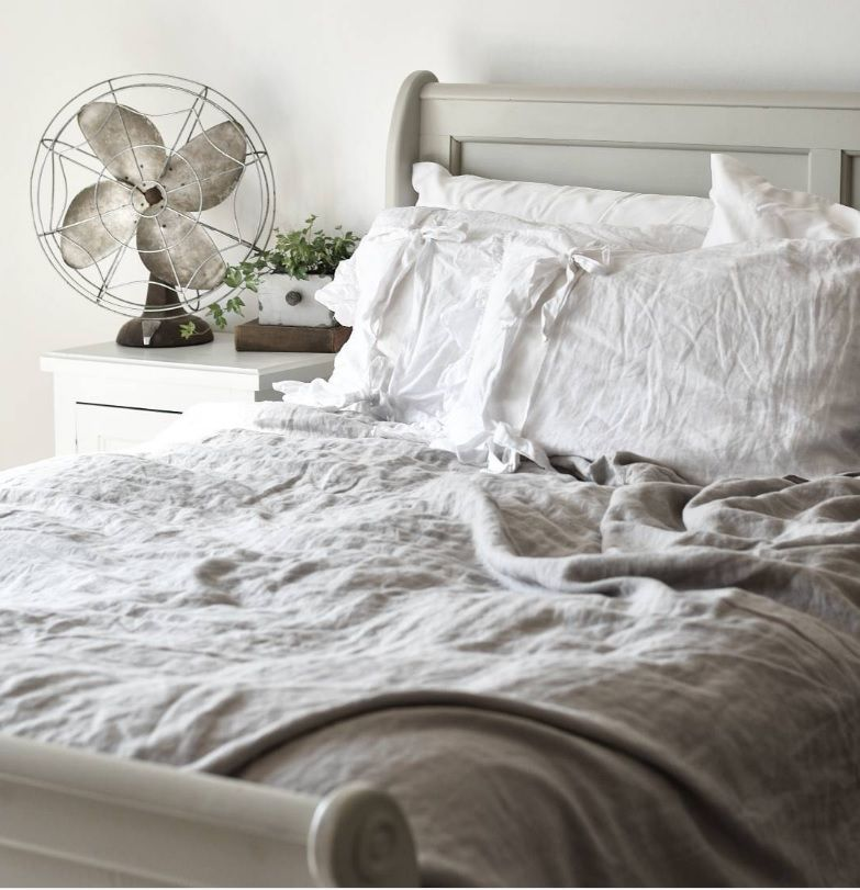 A beautiful simple farmhouse style master bedroom