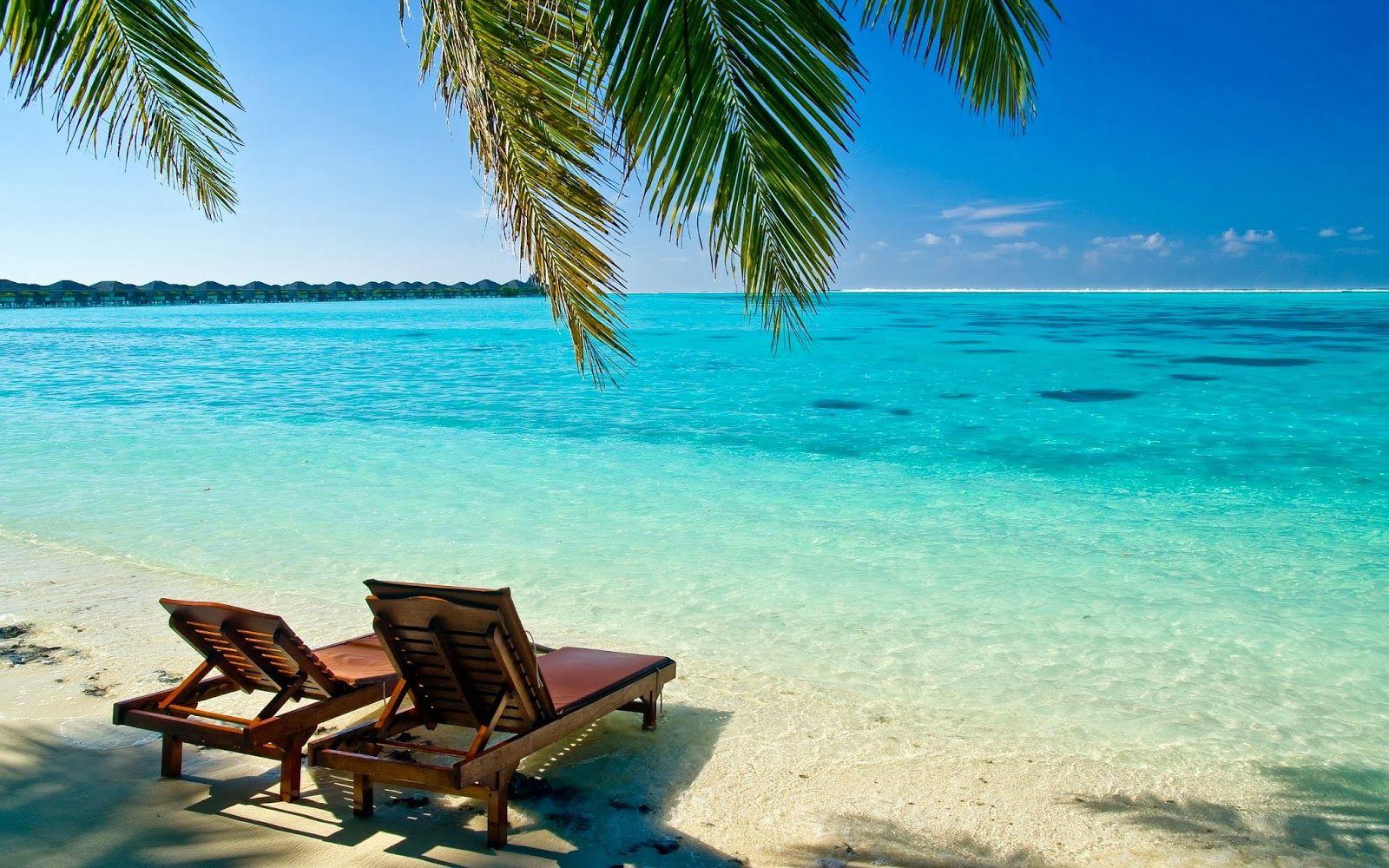 HD Maldives Sun Island Beach Wallpapers