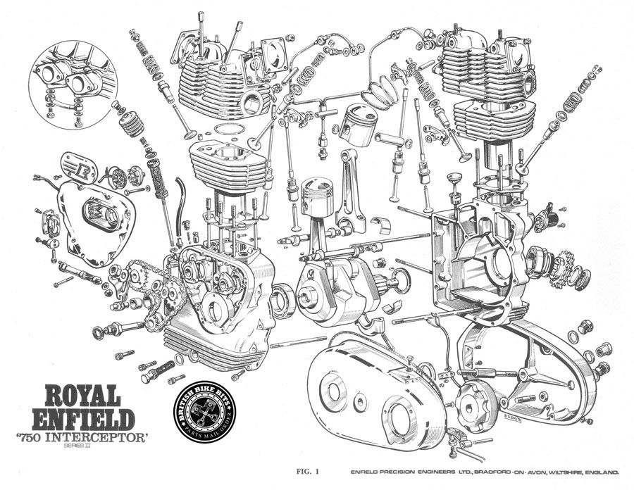 Click on the diagram coches y motocicletas pinterest Harley Sportster Engine Diagram Triumph Bonneville Transmission Moto Guzzi Engine Diagram
