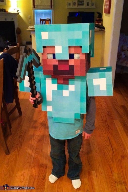 Minecraft Diamond Armor Steve - Halloween Costume Contest at ...