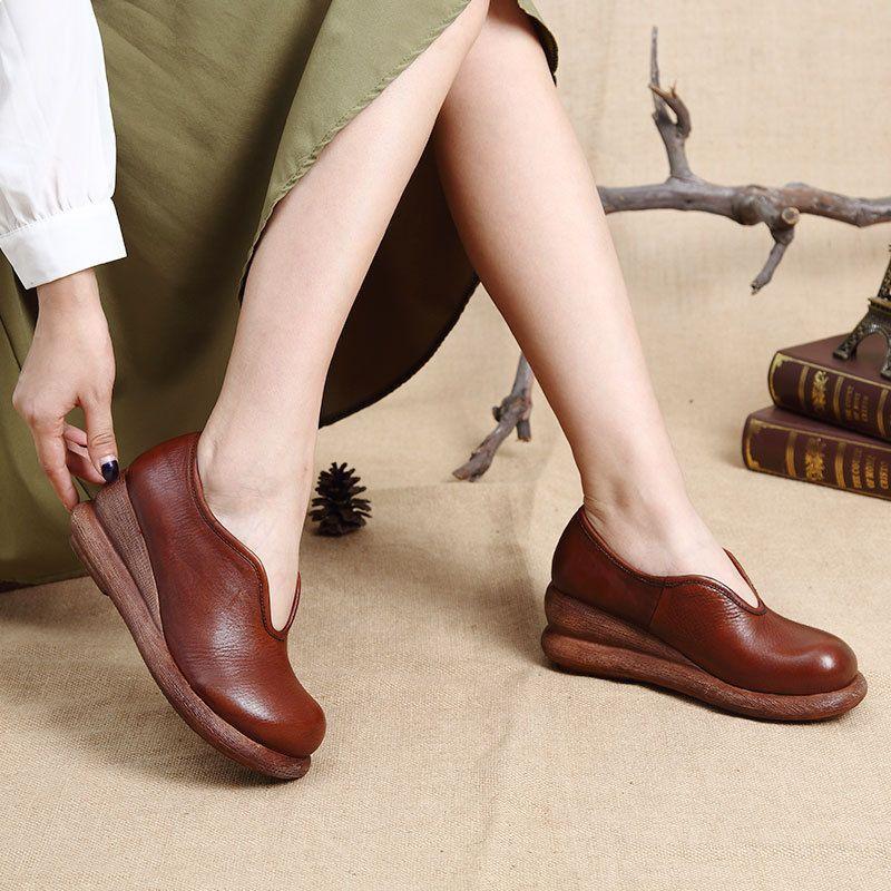 la conception initiale initiale initiale des chaussures en cuir de vache des pompes occasionnels en cuir épais 0ca80d