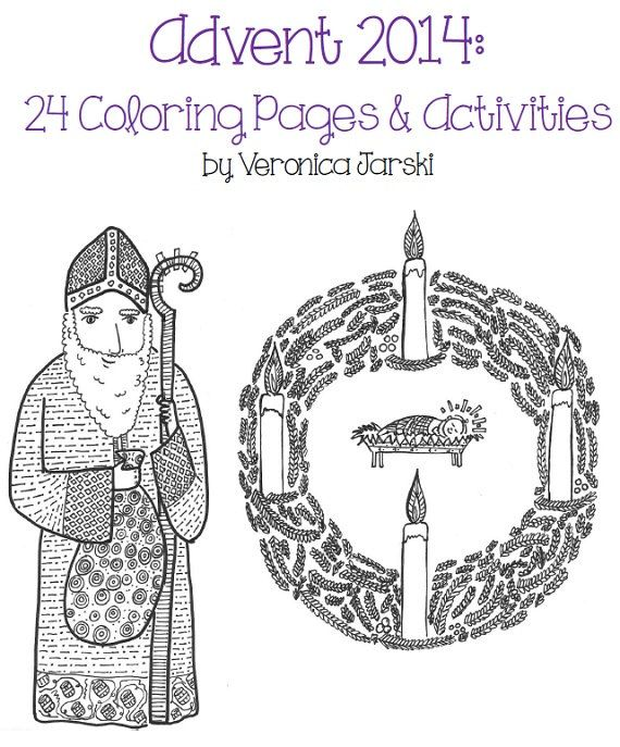 celebrate the season of advent with these 24 coloring pages and activities this 27 - Advent Coloring Pages