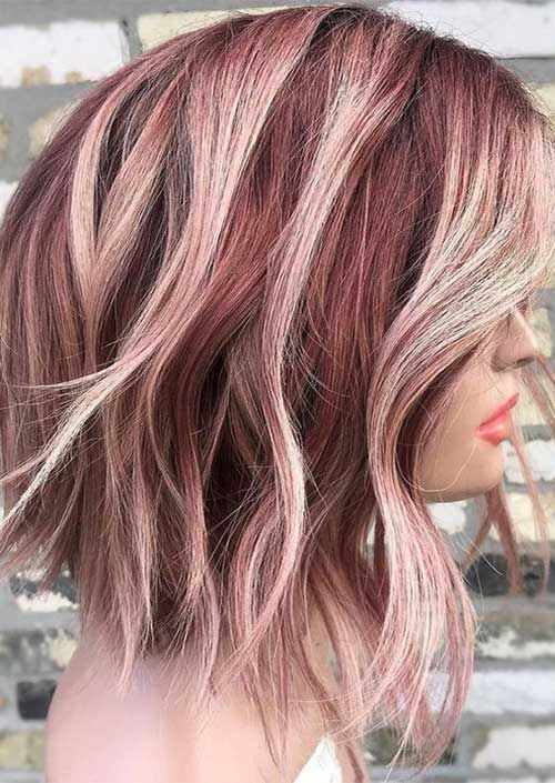 Latest Trend Hair Color Ideas For Short Hair Mit Bildern Haarfarben Frisuren Haarfarbe Ideen