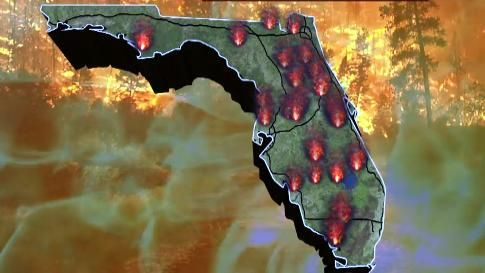 Florida Fire Map 2017.Wildfires Continue To Spark Across Florida As Drought Worsens