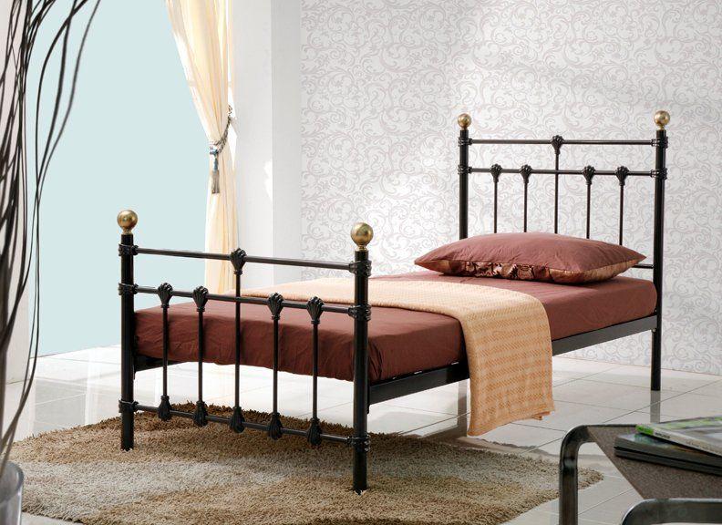 Bonsoni Traditional Style Single Atlas Bed Frame Black 3ft Http