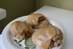 The Sweet Details: Baking My Way: Caramel Frosted Banana Drops