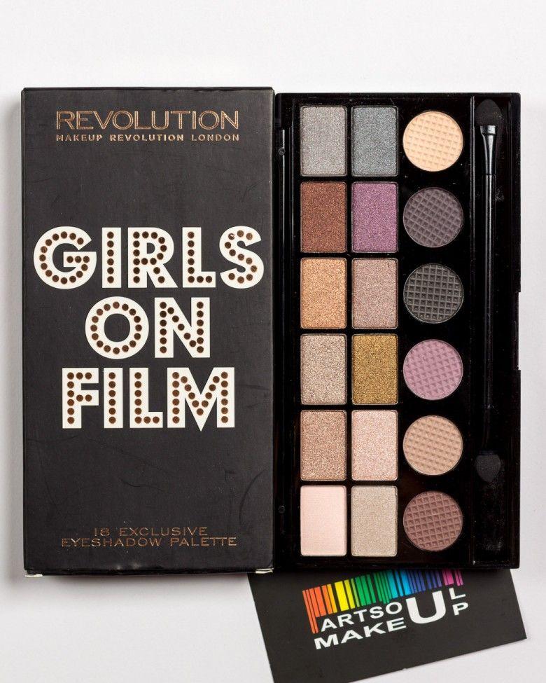 Girls on film Палитра теней Make Up Revolution Makeup