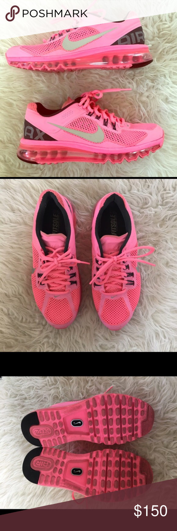 Pink Nike Air Max W Size 9 Only worn a couple of times, like new Nike Shoes Sneakers