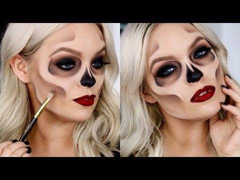 HOW TO EASY SKULL/SKELETON MAKEUP - Halloween Costume Idea 2017