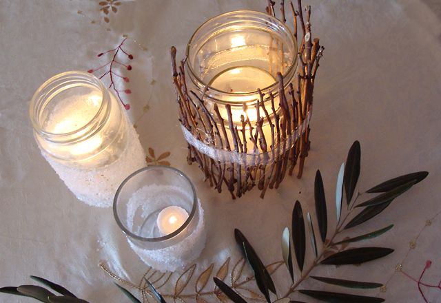 DIY Twig Luminarie Candle Jar & DIY Twig Luminarie Candle Jar |  gettin crafty  | Pinterest ...
