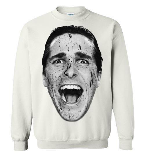 American Psycho Patrick Bateman Christian Bale , Gildan Crewneck Sweatshirt