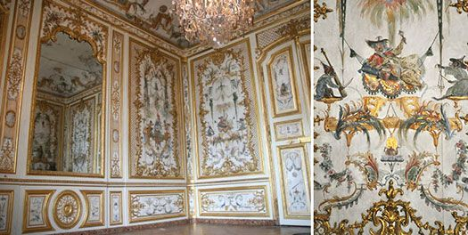 Chateau De Chantilly Roccoco Interior With Chinoiserie