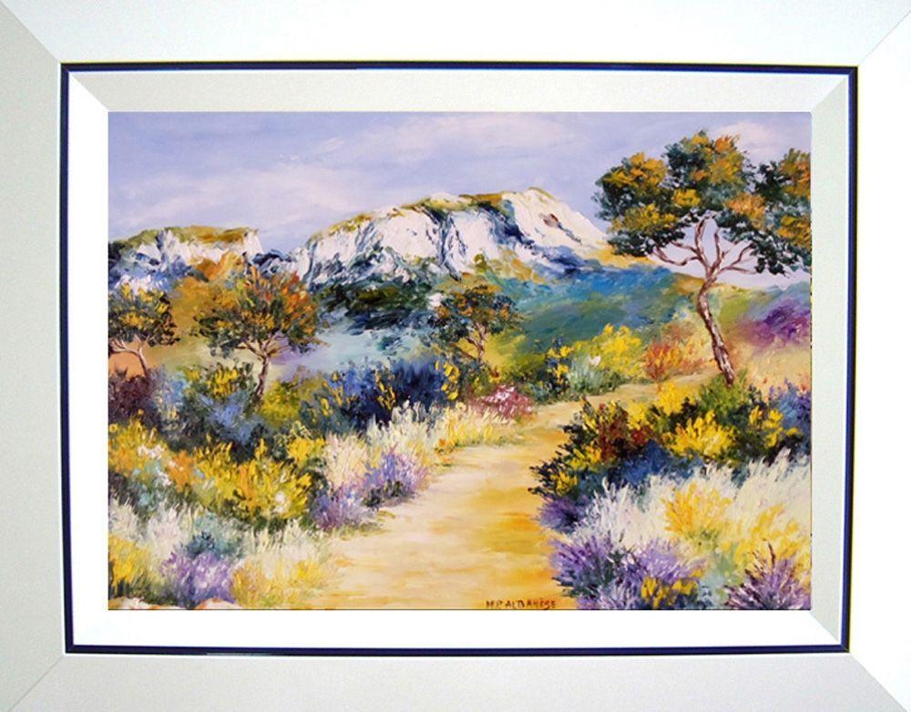 Tableau contemporain paysage upside art gen ts dans les for Tableau peinture contemporain