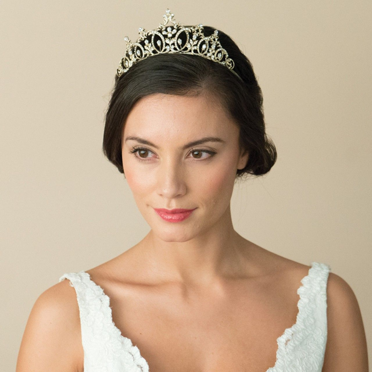 empress gold wedding tiara (ic) | gold wedding, bridal hair and wedding