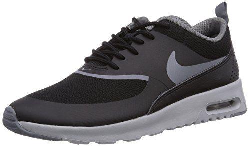 Nike Women S Air Max Thea Black Cl Gry Wlf Gry Mtllc Slvr Running Shoe 9 Women Us Nike Air Max Women Air Max Thea Nike Women