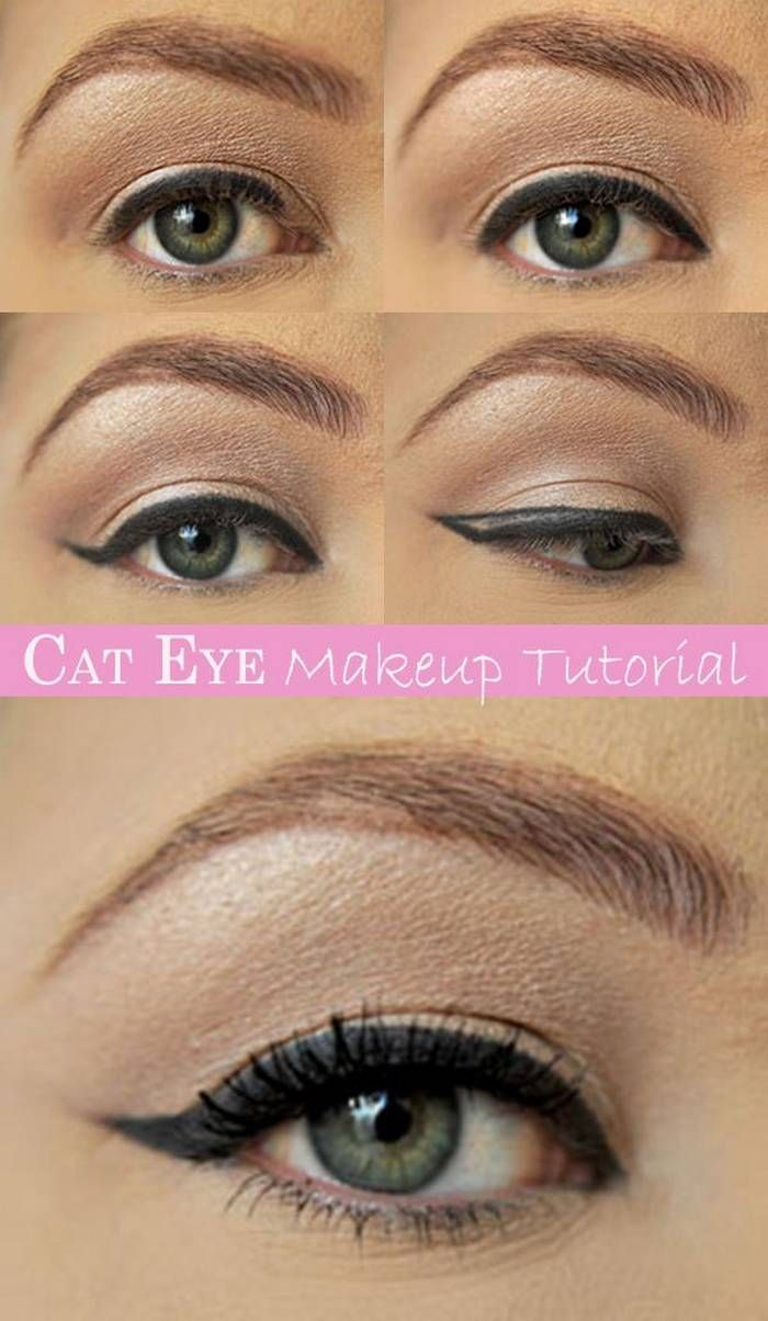 Cat Eye Makeup Step By Step Tutorials Health And Looks Makeup
