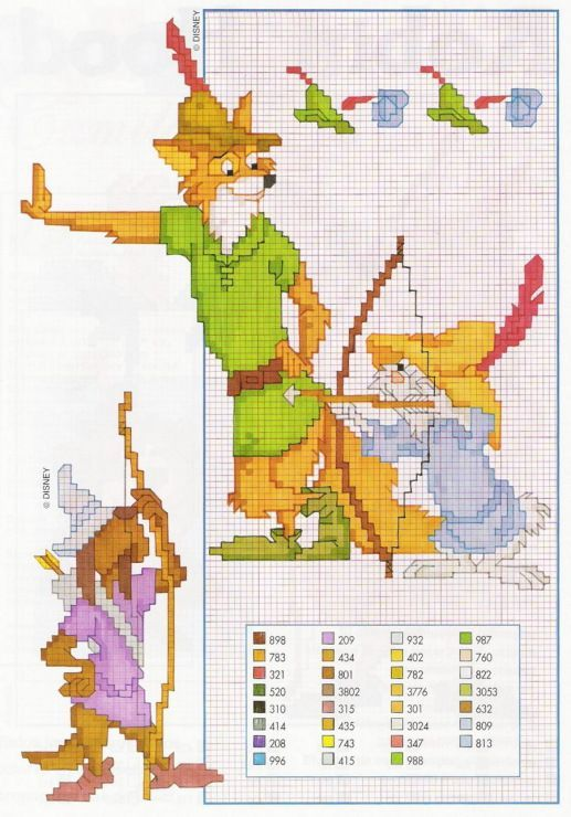disney cross stitch | Disney Robin Hood cross stitch | Crafty ...
