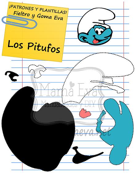 Plantillas personajes dibujos animados 80\'s | Goma Eva | Pinterest ...