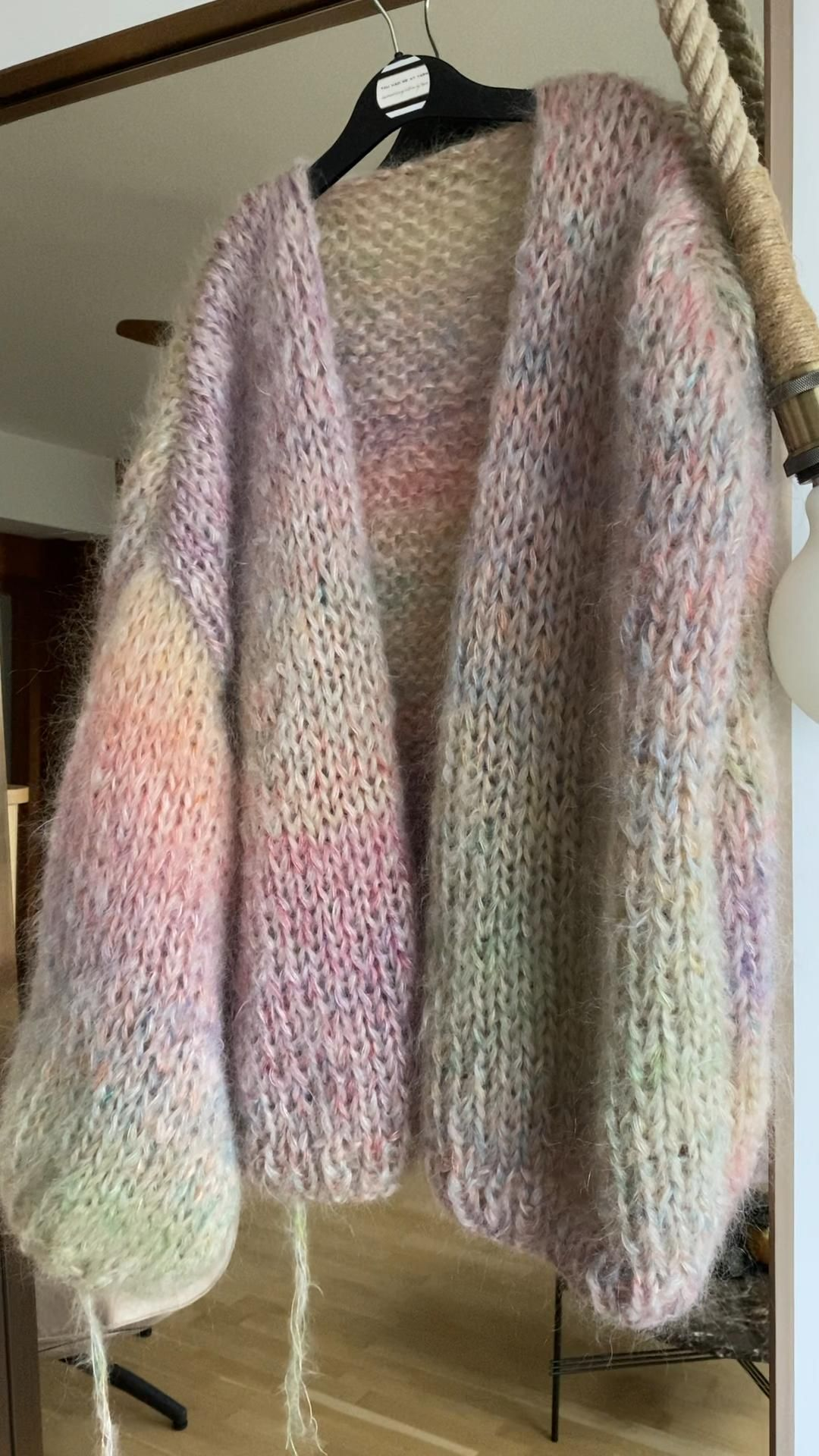 Photo of Mohair knitwear in ombré pastel colors