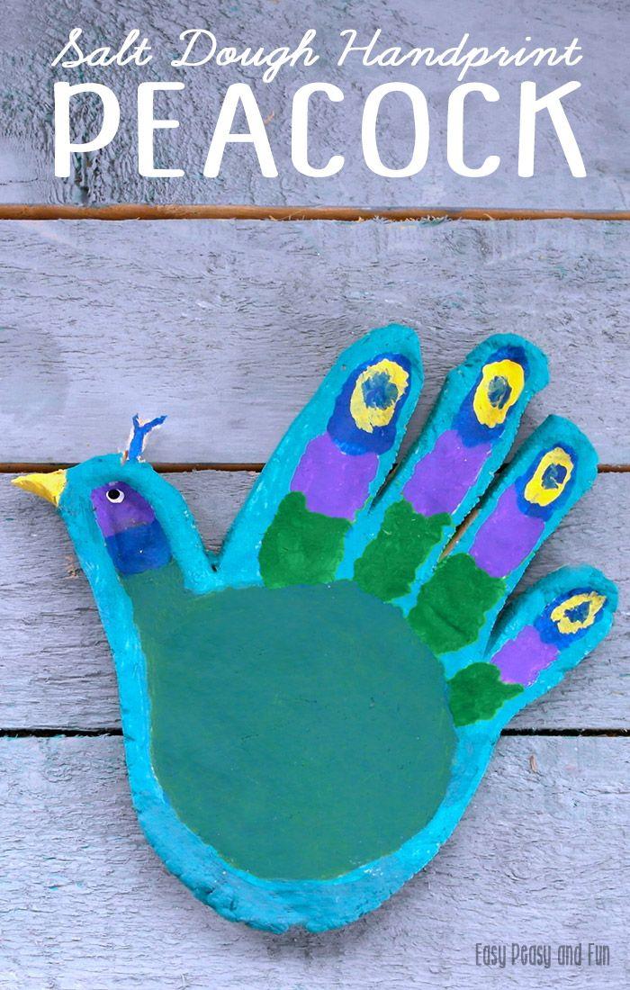 Handprint Peacock Salt Dough Craft For Kids Must Do Crafts And