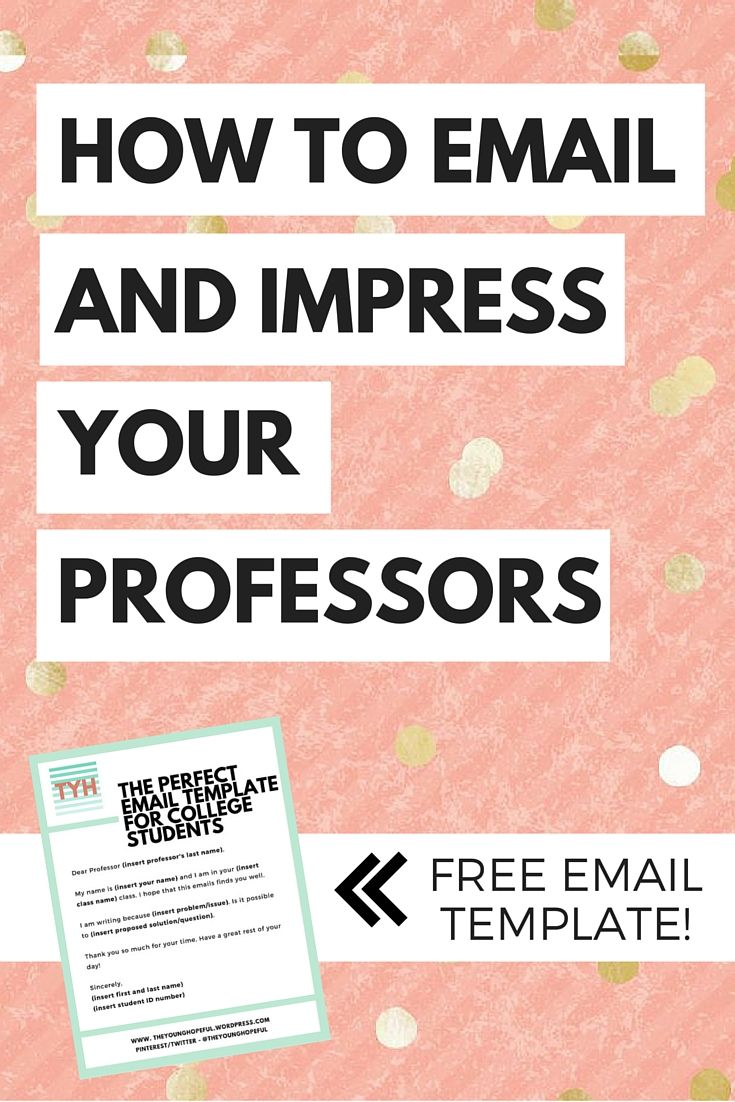 How To Email Your Professors Free Email Template The