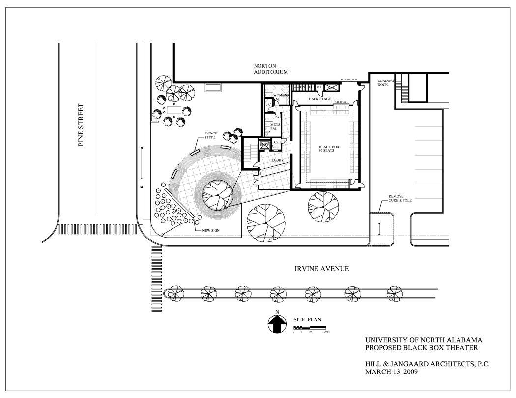 Black Box Theater Site Plan