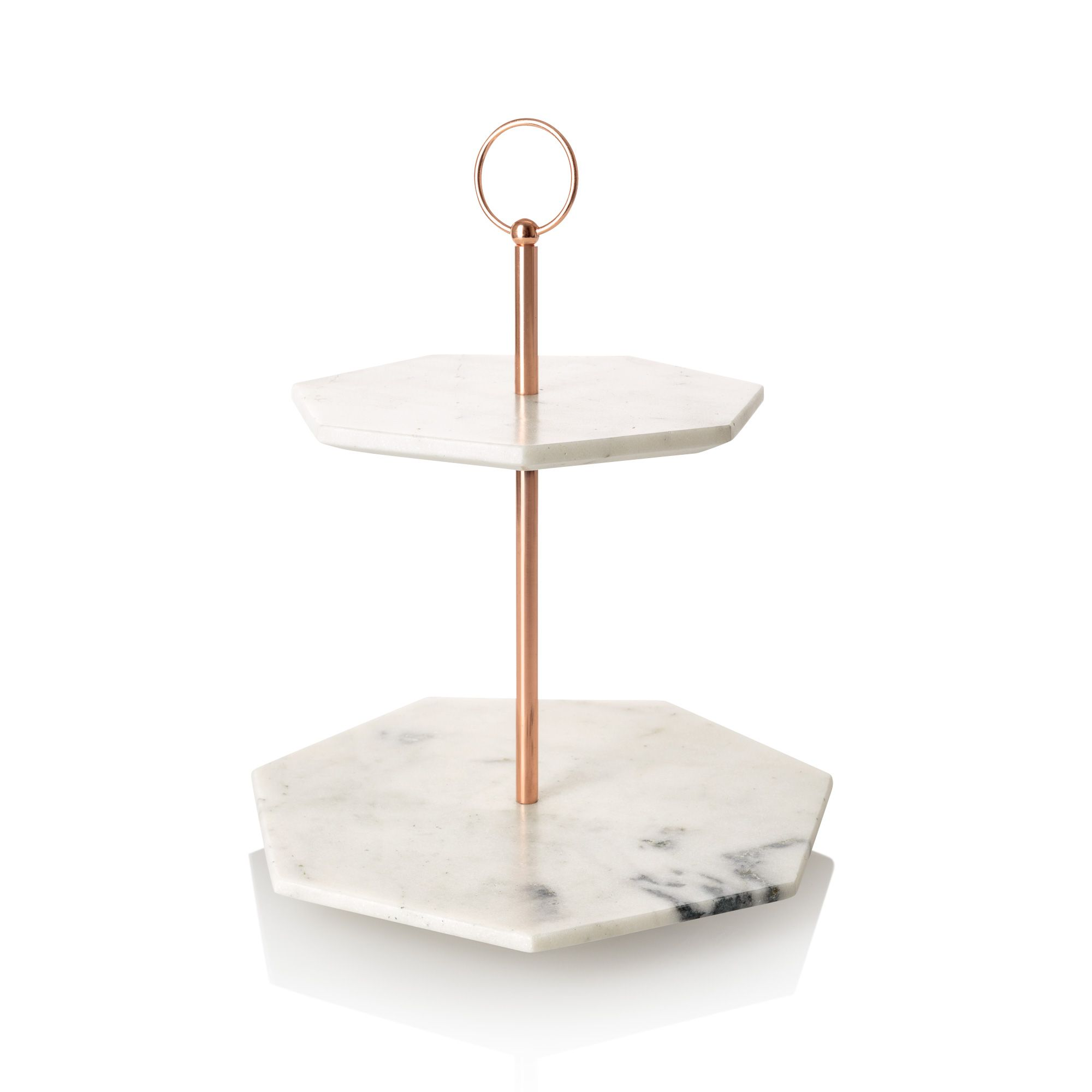 the double tiered marble cake stand at oliver bonas enjoy