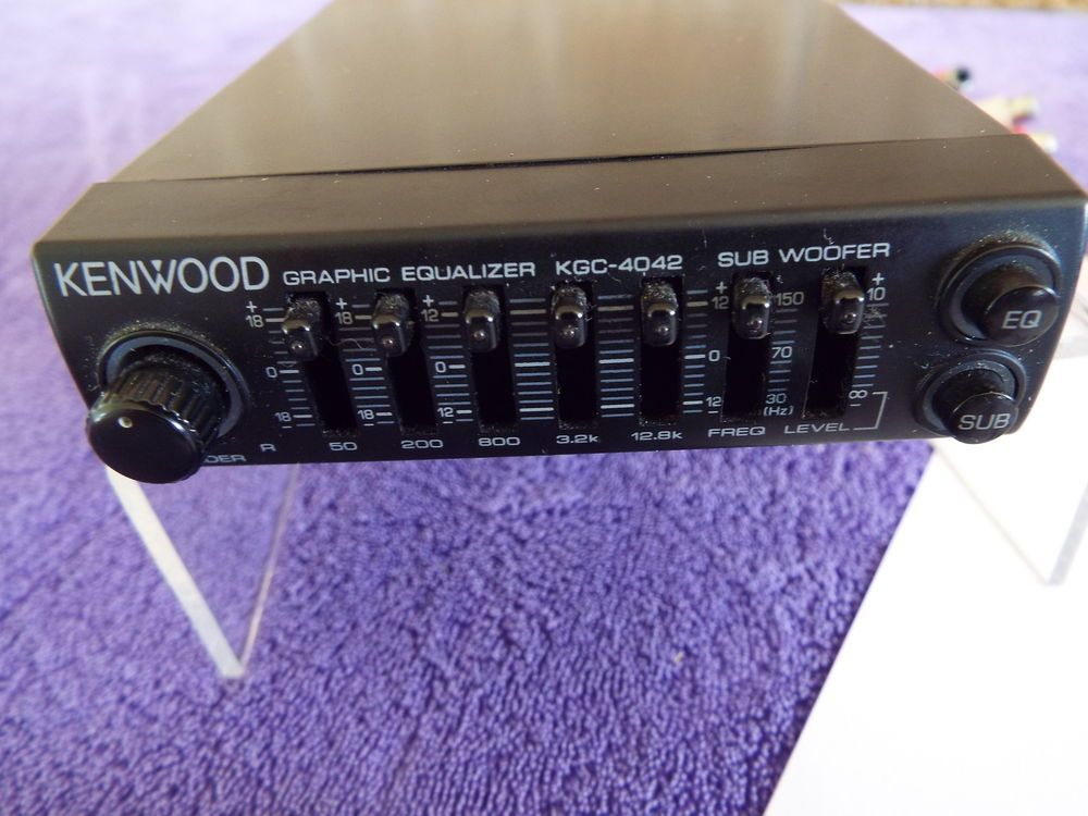 Kenwood KGC-4042A withPDF Manual,Plug,Mounting,Trim. Great Used Condition!  | Kenwood, Old school cars, EqualizerPinterest