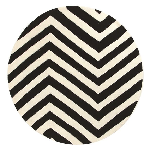 Palazzo Chevron Circular Rug Black White Home Office Pinterest