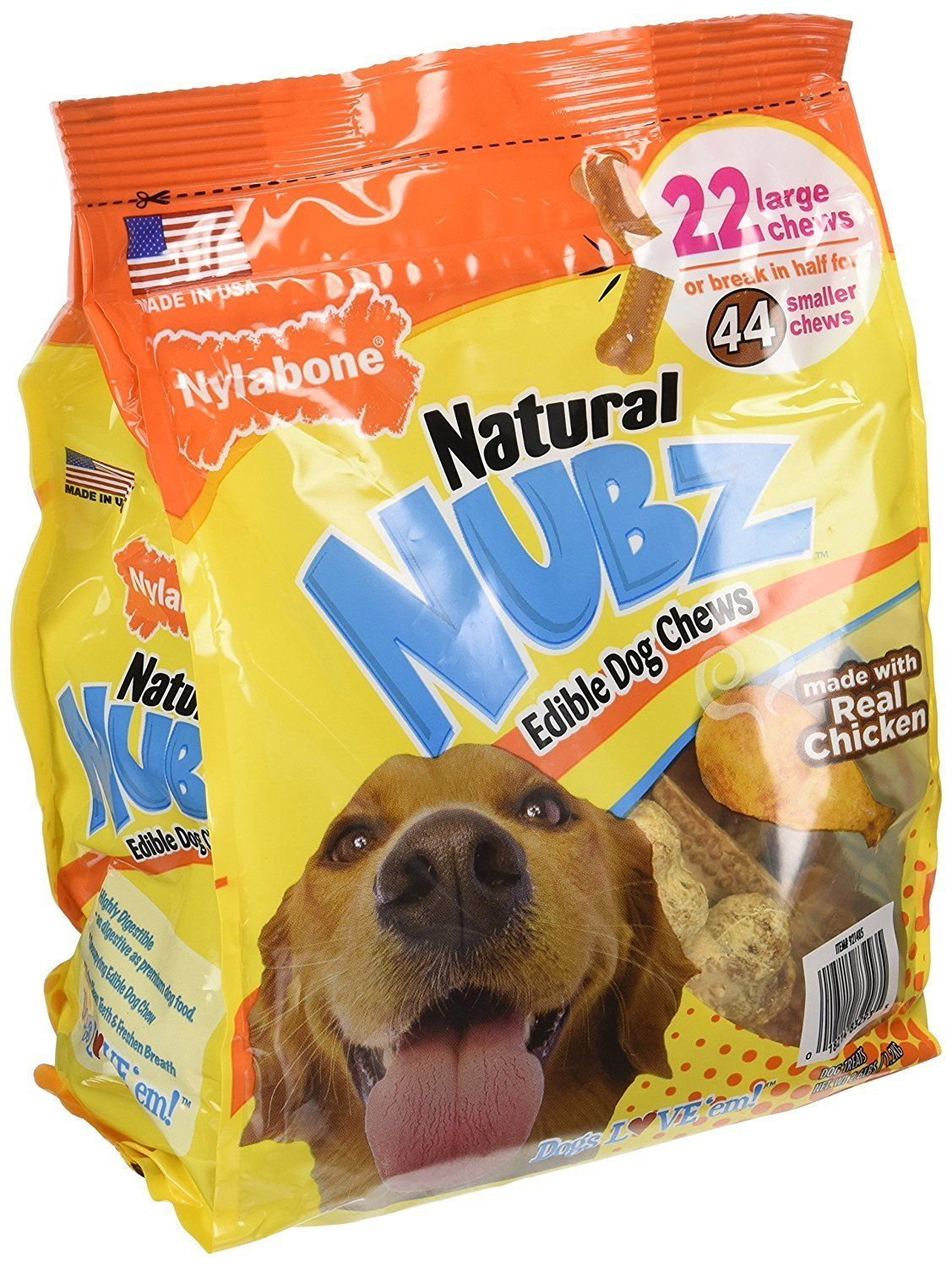 Natural Nubz Edible Dog Chews Made With Real Chicken 2 Packs 18