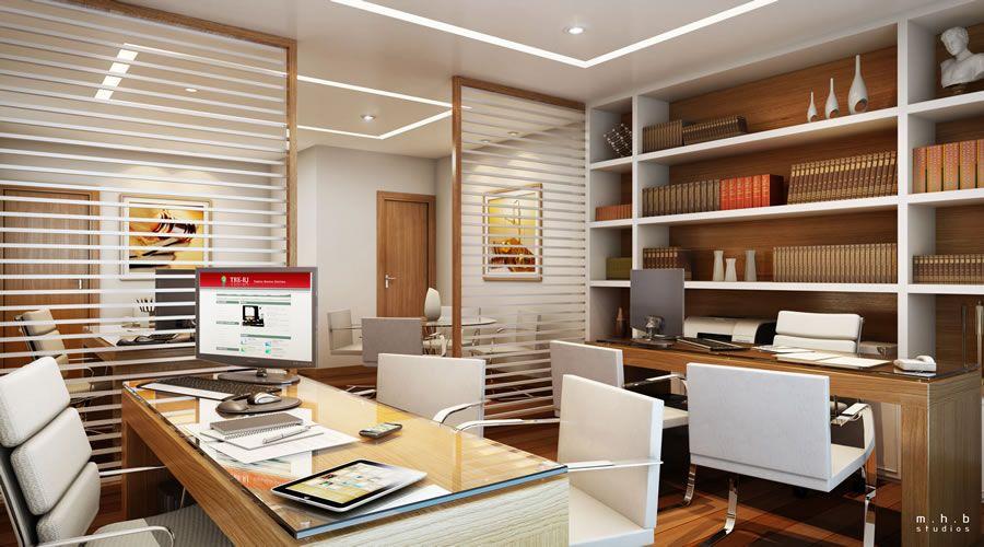 Escrit rios modernos de advocacia divis ria office - Escritorios modernos para casa ...