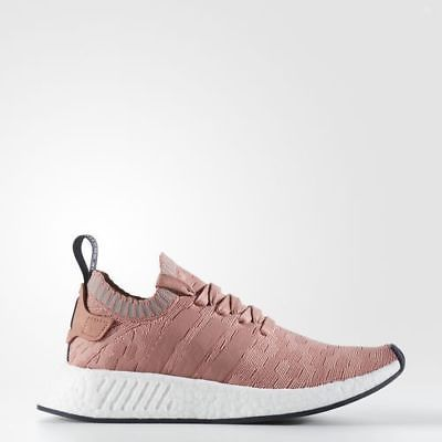 552fcbcc4 Women Adidas Originals NMD R2 Boost Primeknit Raw Pink Runner New White  BY8782