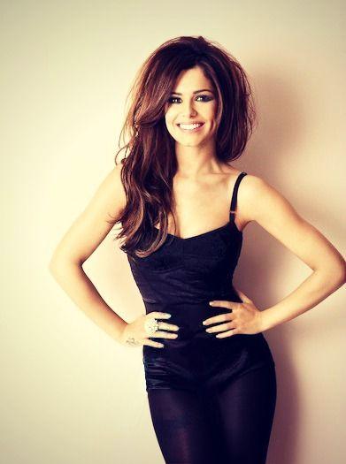 Cheryl Cole in a little black dress, love the volumous hair.
