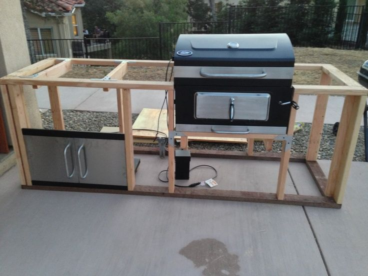 This charcoal grill will be split apart and integrated