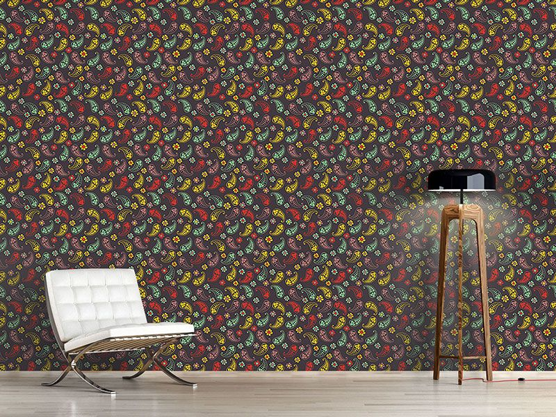 Design #Tapete Herbst Paisley Mix