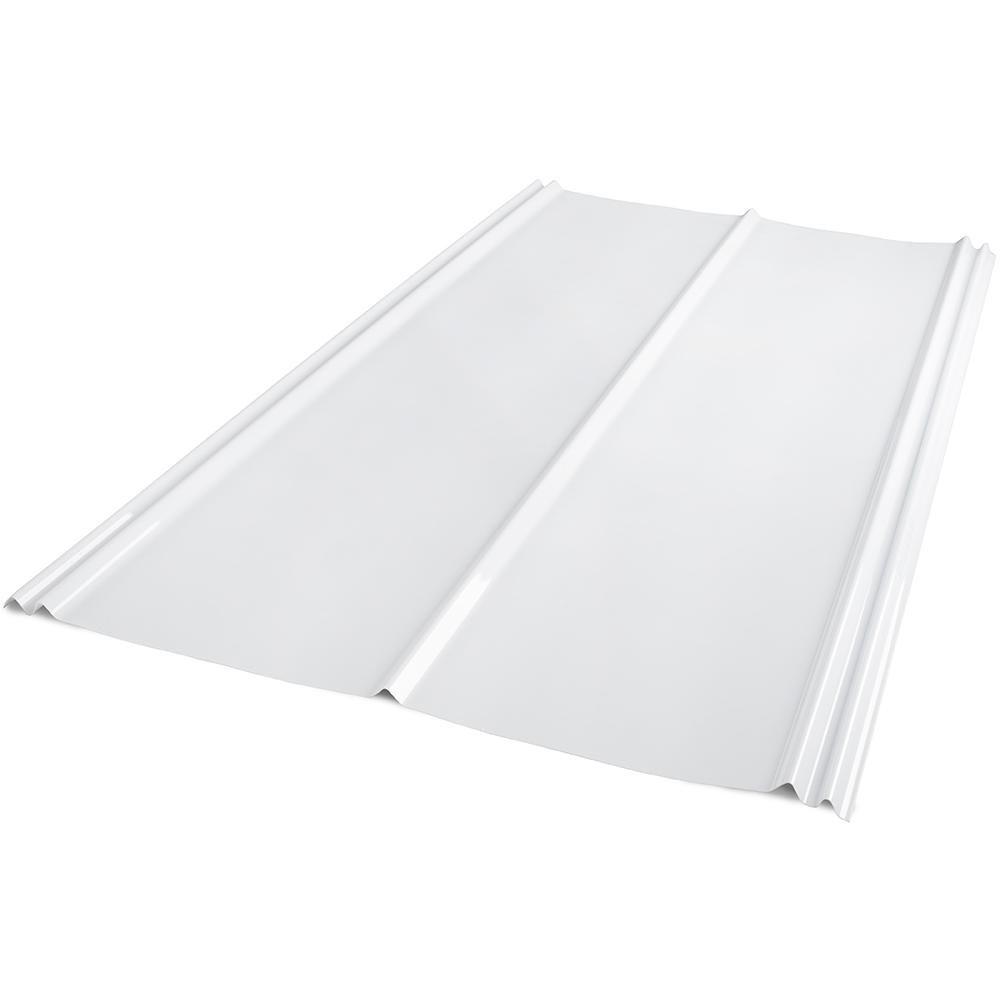 6 Ft Sunsky 5v Crimp Polycarbonate Roof Panel In White Opal