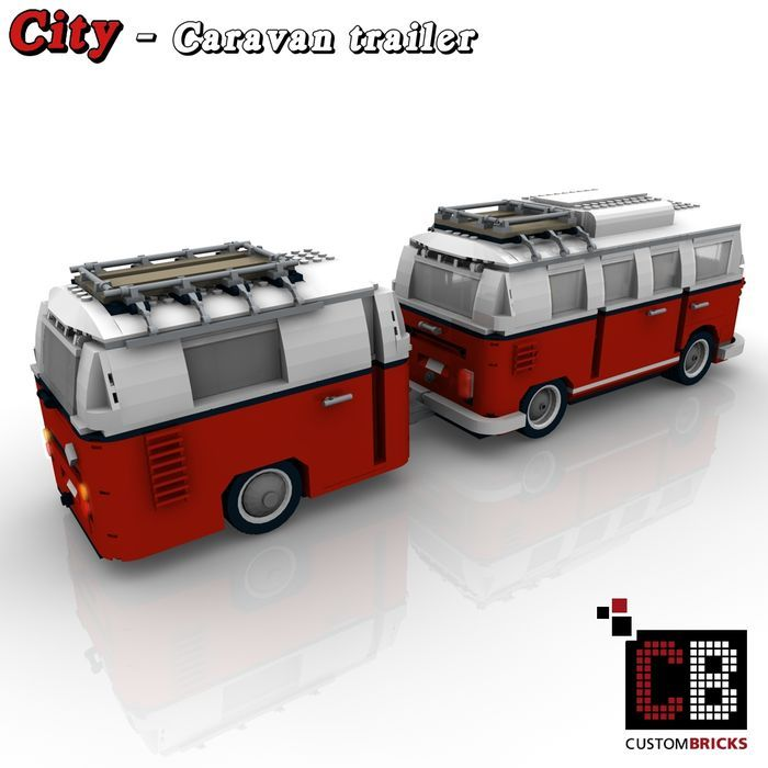 caravan voor lego 10220 volkswagen t1 camper van vw bus. Black Bedroom Furniture Sets. Home Design Ideas