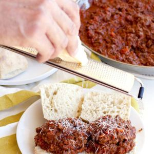 Beef Bolognese Sloppy Joes • Food, Folks and Fun