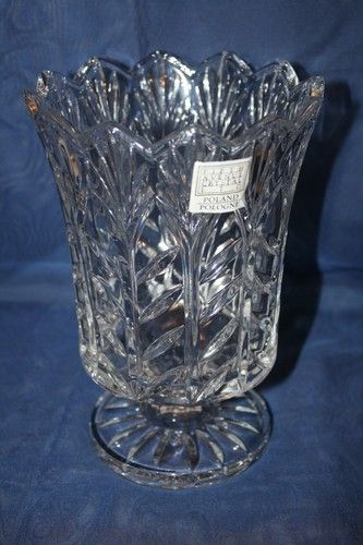 Fifth Ave Crystal Candle Holder Vase Measures Approx 7 14 X 5 1